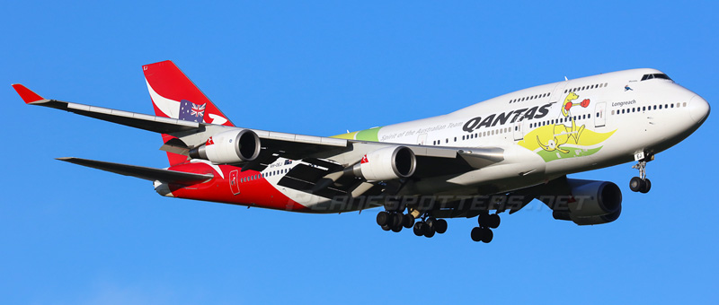 Boeing 747-400 Qantas Airways. Photos and description of the plane