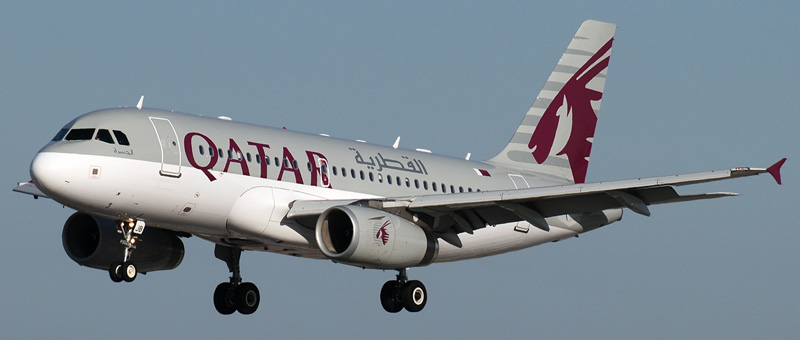 Airbus A319-100 Qatar Airways. Photos and description of the plane