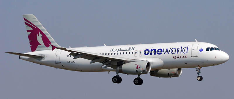 Airbus A320-200 Qatar Airways. Photos and description of the plane