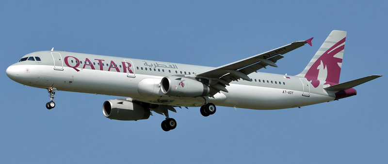 Airbus A321-200 Qatar Airways. Photos and description of the plane