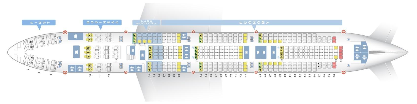 Seat Map Boeing 747 400 El Al Best Seats In The Plane