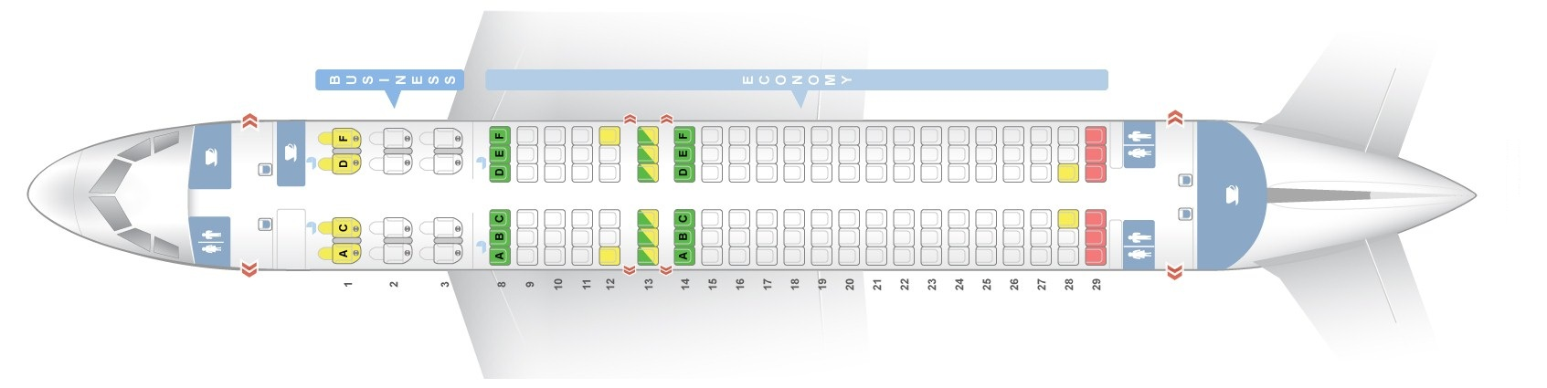 Seat Map Airbus A320 200 Qatar Airways Best Seats In The