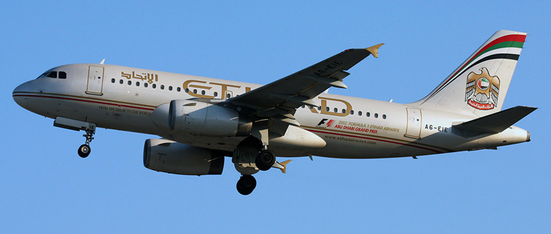Airbus A319-100 Etihad Airways. Photos and description of the plane