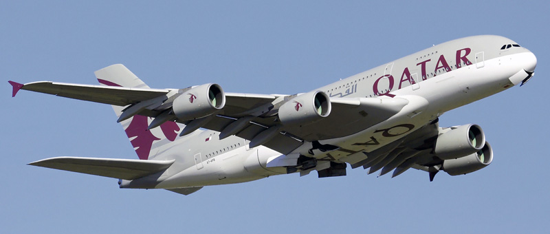Airbus A380-800 Qatar Airways. Photos and description of the plane