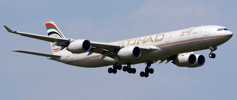 Airbus A340-500 Etihad Airways. Photos and description of the plane