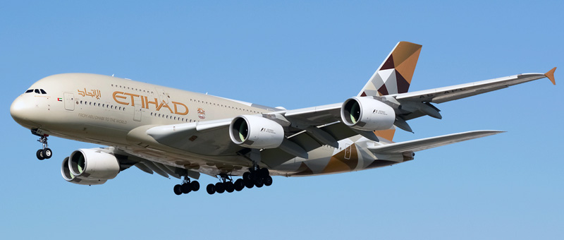 Airbus A380-800 Etihad Airways. Photos and description of the plane