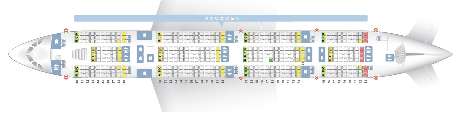 A380 800 Seat Map