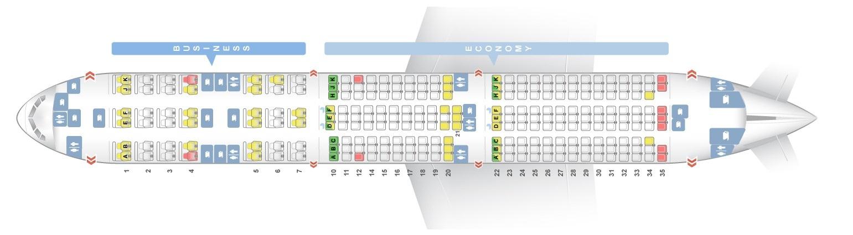 Seat Map Of The Boeing 777 200lr 77l Qatar Airways