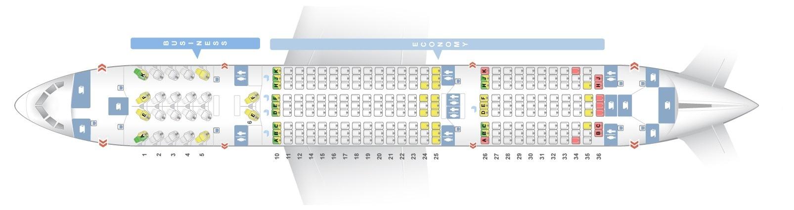 Seat Map Boeing 787 8 Dreamliner Qatar Airways Best Seats In The Plane