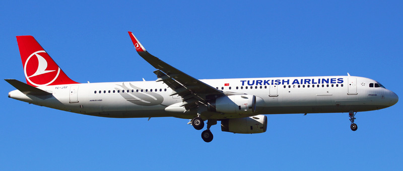 Seat map Airbus A321-200 Turkish Airlines. Best seats in the plane
