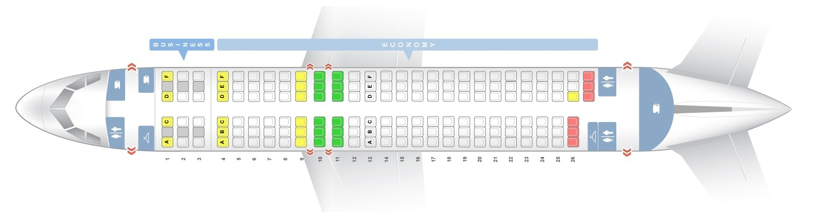 Seat map Airbus A320-200 Turkish Airlines. Best seats in the plane