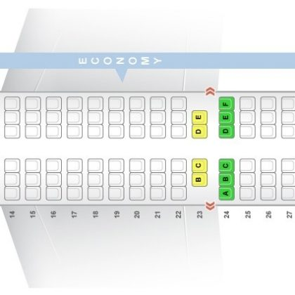 Seat map Airbus A321-100 Turkish Airlines. Best seats in the plane