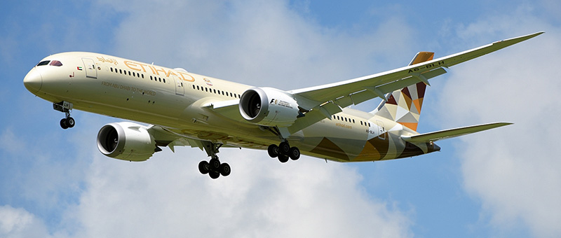 Boeing 787-9 Dreamliner Etihad Airways. Photos and description of the plane