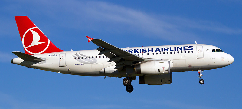 Airbus A319-100 Turkish Airlines. Photos and description of the plane