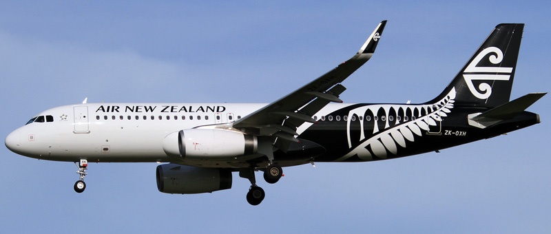 Airbus A320-200 Air New Zealand. Photos and description of the plane