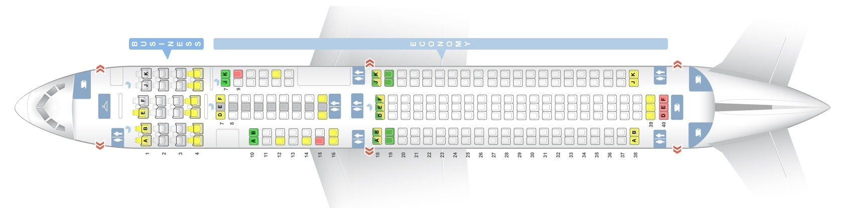 Seat map Boeing 767-300 Air New Zealand. Best seats in the plane