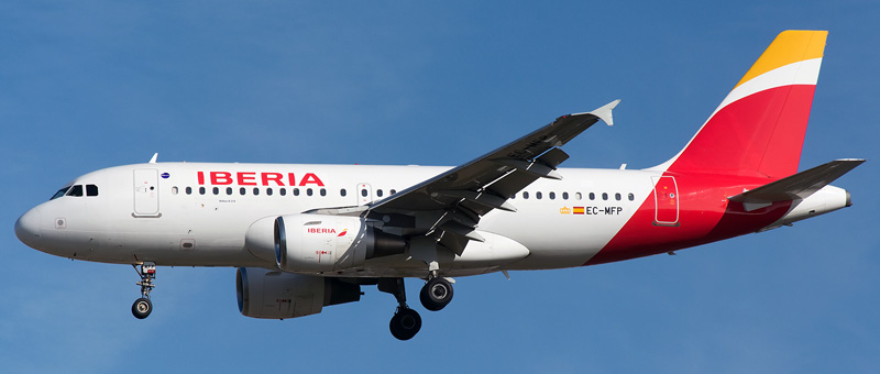 Airbus A319-100 Iberia. Photos and description of the plane