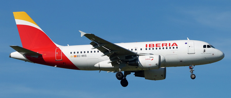 Seat map Airbus A319-100 Iberia. Best seats in the plane