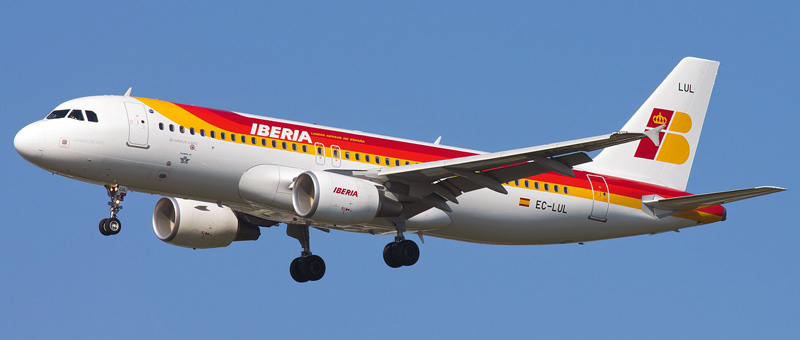 Seat map Airbus A320-200 Iberia. Best seats in the plane