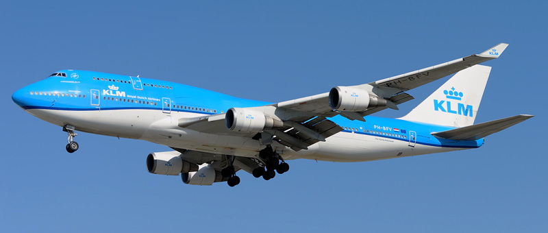 Boeing 747-400 KLM. Photos and description of the plane