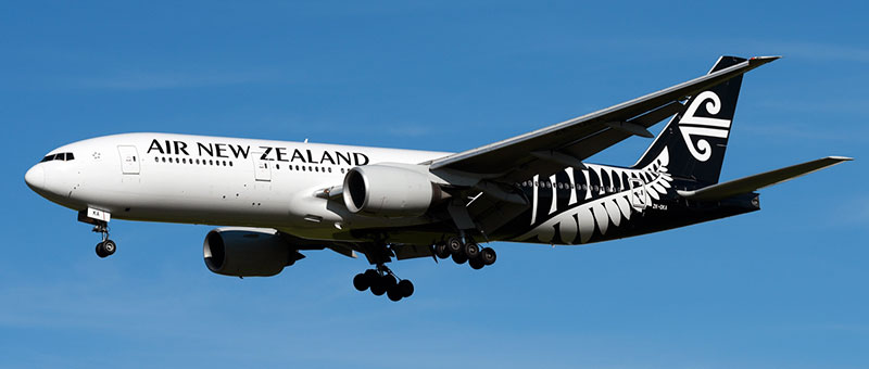 Boeing 777-200 Air New Zealand. Photos and description of the plane