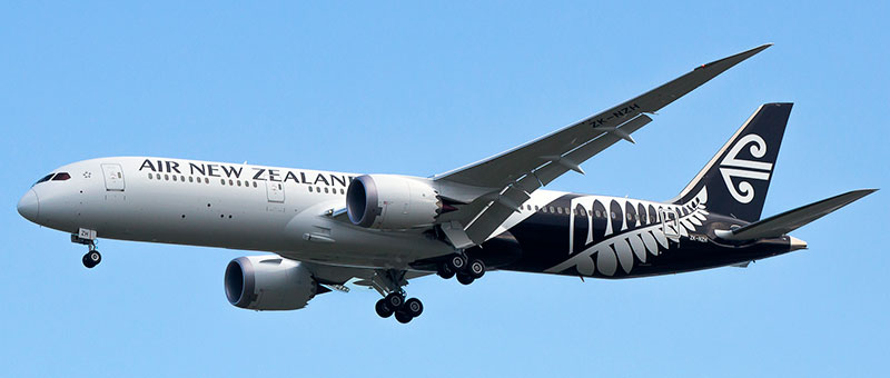 Boeing 787-9 Dreamliner Air New Zealand. Photos and description of the plane