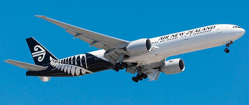 Boeing 777-300 Air New Zealand. Photos and description of the plane