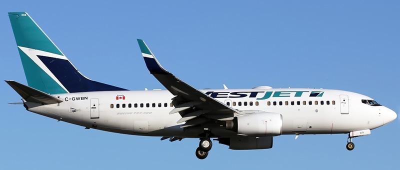 Seat map Boeing 737-700 WestJet. Best seats in the plane