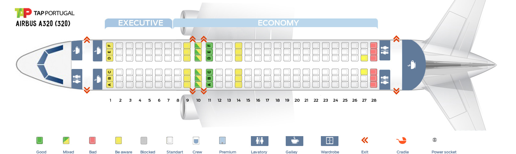Seat Map Airbus A320 Tap Portugal