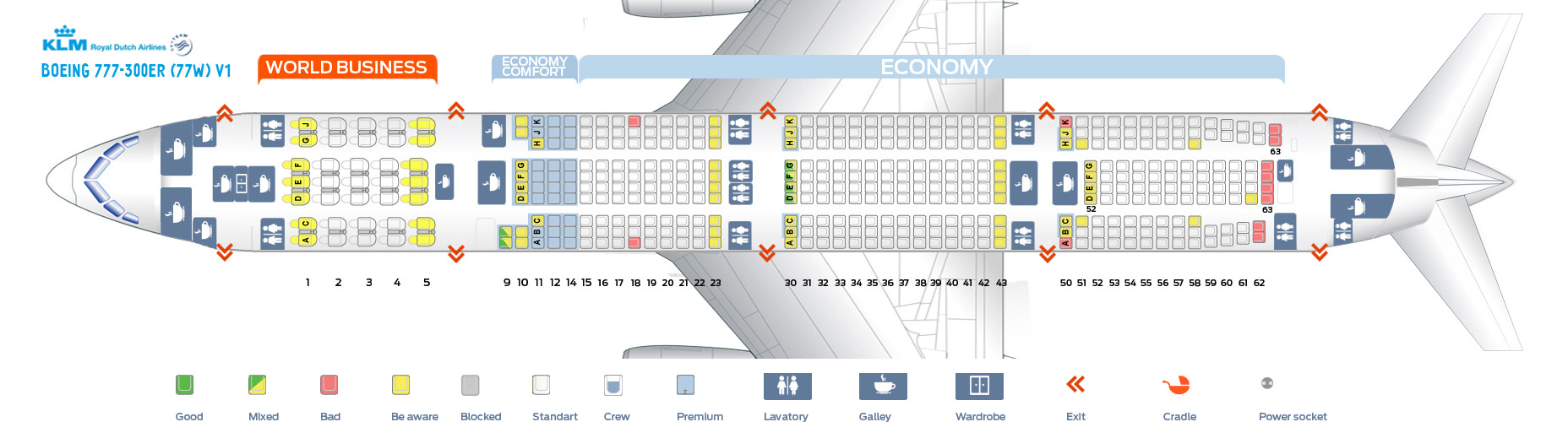 Seat Map Boeing 777 300 Klm Best Seats In The Plane