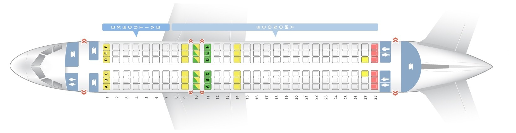 Seat map Airbus A320-200 TAP Portugal. Best seats in the plane