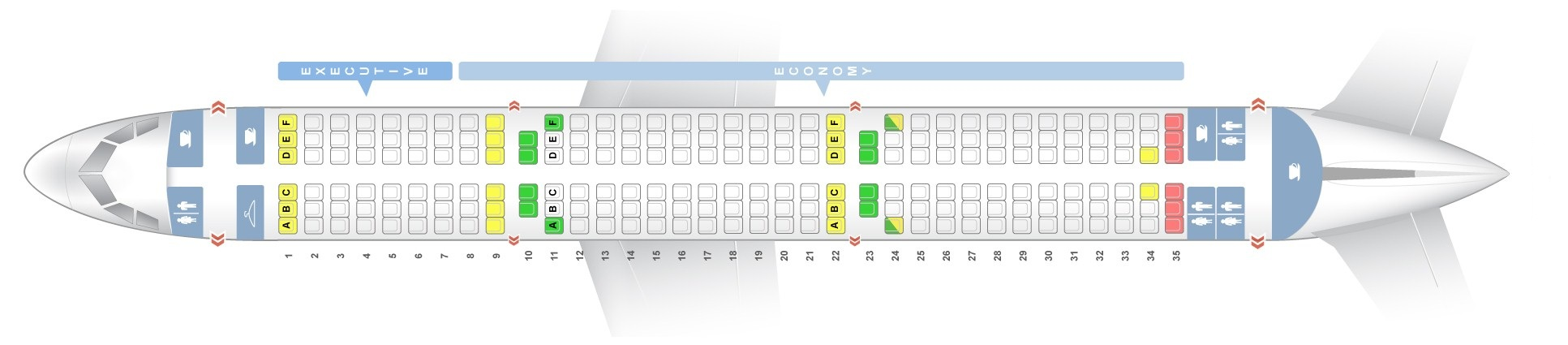 Seat map Airbus A321-200 TAP Portugal. Best seats in the plane