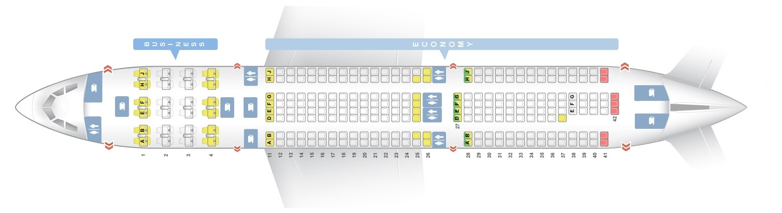 Seat map Airbus A330-200 TAP Portugal. Best seats in the plane