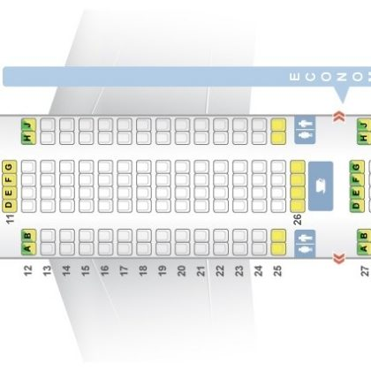 Seat map Airbus A340-300 TAP Portugal. Best seats in the plane