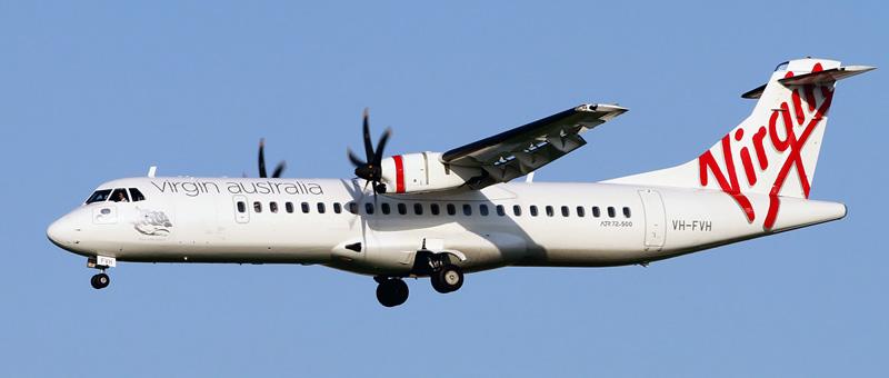 Seat map ATR 72-500 Virgin Australia. Best seats in the plane