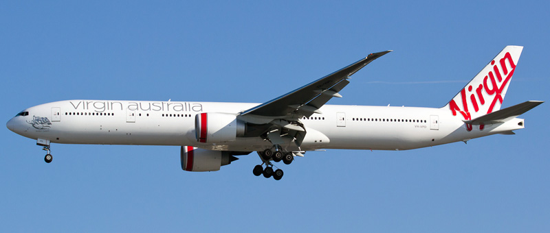 Boeing 777-300 Virgin Australia. Photos and description of the plane