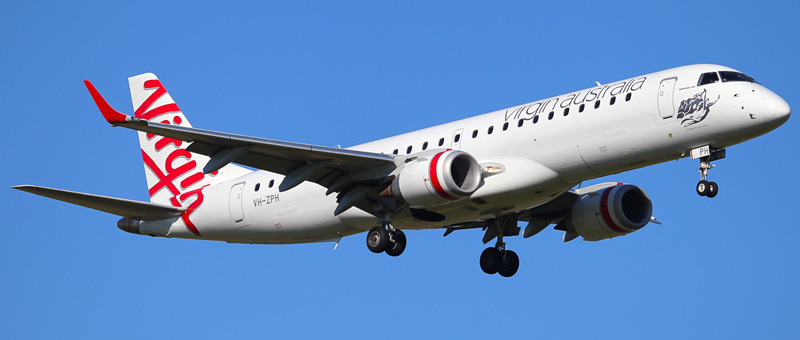 Embraer ERJ-190 Virgin Australia. Photos and description of the plane