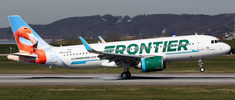 Airbus A320neo Frontier Airlines. Photos and description of the plane