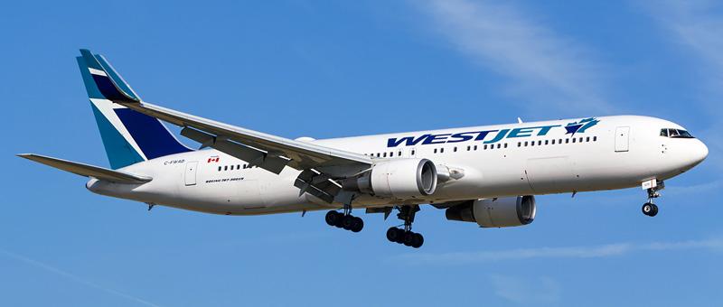 Seat map Boeing 767-300 WestJet. Best seats in the plane