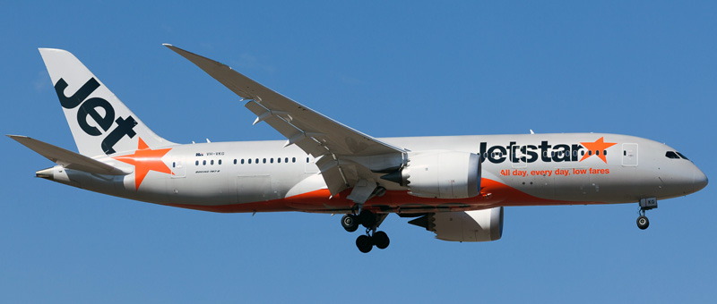 Seat map Boeing 787-8 Dreamliner Jetstar. Best seats in the plane
