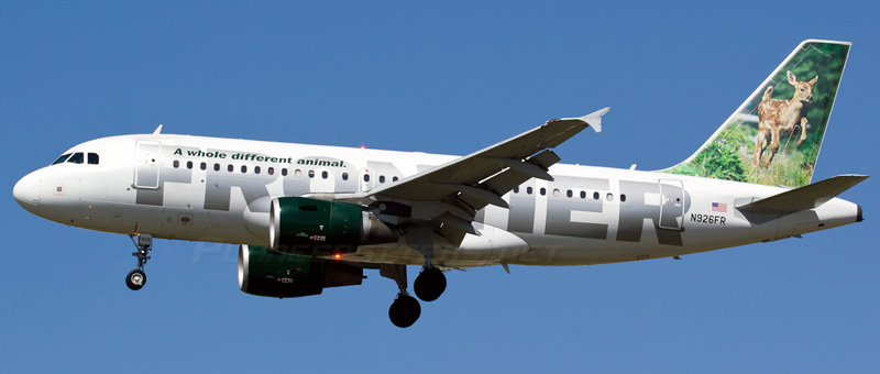 Airbus A319-100 Frontier Airlines. Photos and description of the plane