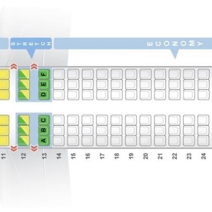 Seat map Airbus A320-200 Frontier Airlines. Best seats in the plane