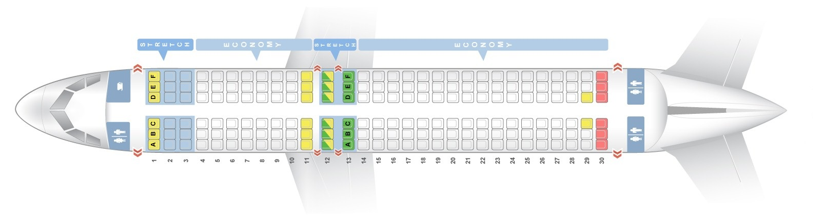 Seat Map Airbus A320 200 Frontier Airlines Best Seats In