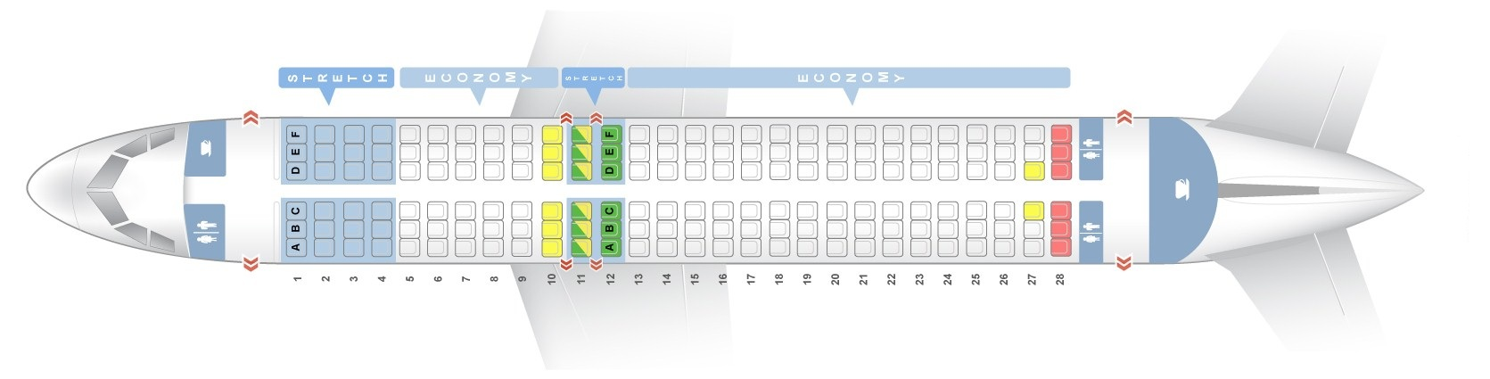 seat map airbus a320neo frontier airlines best seats in the plane