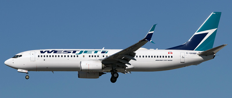 Boeing 737-800 WestJet. Photos and description of the plane
