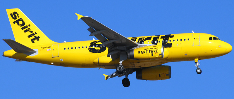 Airbus A319-100 Spirit Airlines. Photos and description of the plane