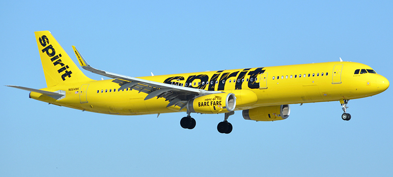 Airbus A321-200 Spirit Airlines. Photos and description of the plane