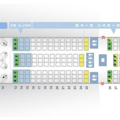 "Seat map Boeing 787-9 Dreamliner ""Aeromexico"". Best seats in the plane"
