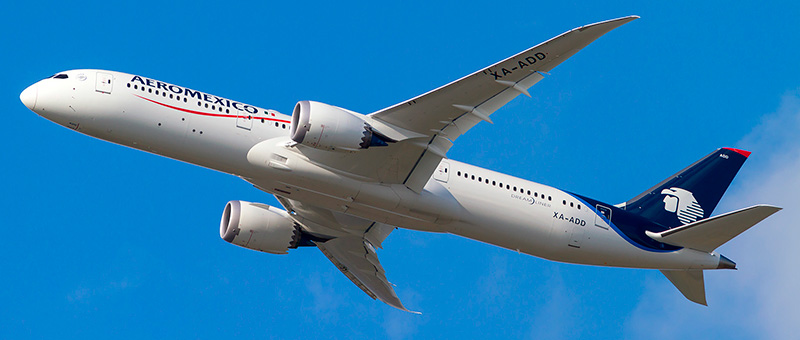 Boeing 787-9 Dreamliner Aeromexico. Photos and description of the plane
