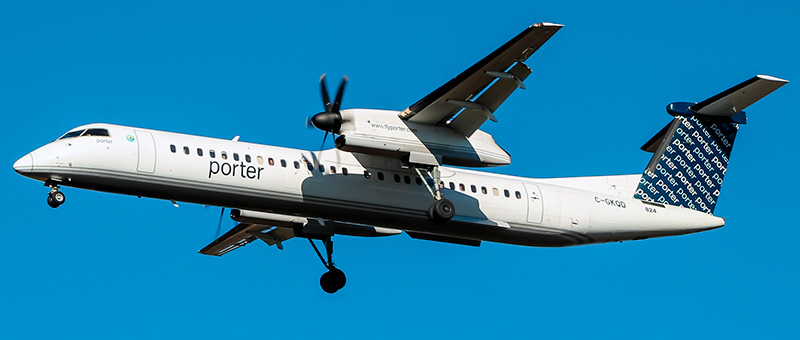 De Havilland Canada DHC-8-400 Porter Airlines. Photos and description of the plane